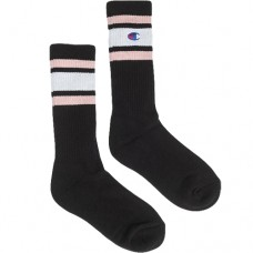 Champion Stripe Ribbed Crew Socks - Zeķes
