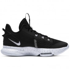 Nike LeBron Witness 5 Black White Metallic Silver - Basketbola apavi