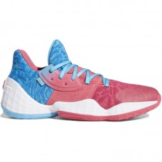 adidas Harden Vol.4 Bright Cyan Real Pink Cloud White
